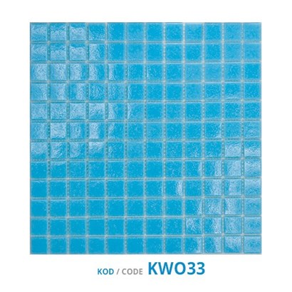 Oxygen Glass Mosaics Pool Blue