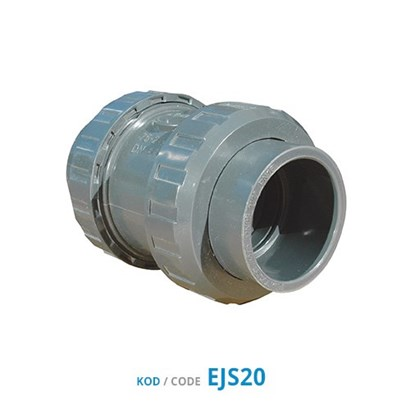 U-PVC Double Union Check Valves (Slip Connection)