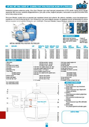 Pina Mitra series glass fiber reinforced polyester made Sand Filters